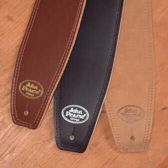 John Pearse® Leather Guitar Straps